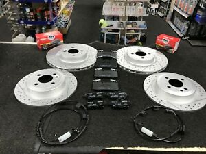 BMW MINI  JOHN COOPER WORKS R56 BRAKE DISC CROSS DRILLED GROOVED FRONT REAR PADS