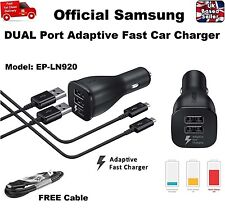 Original 2A Dual Port Adaptive Fast Car Charger for Samsung S6 S7 Edge Note 4 5