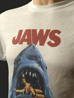 Jaws Movie T Shirt Retro Vintage Great White Shark 80's Steven Spielberg