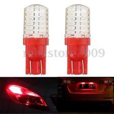 2x T10 168 194 24-SMD 2825 LED Bulb Car Side License Plate Light Lamp 12V Red