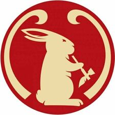 """2 Mad River Smoking Bunny 3"""" Vinyl Decal Stickers & Free USA Flag Canoe Paddle"""
