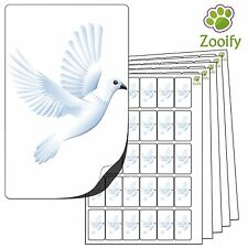 480 Dove Stickers (38 x 21mm) Quality Self Adhesive Animal Labels By Zooify.