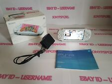 OFFICIAL PEARL WHITE SONY PSP 3003 SLIM & LITE MODDED + 128GB MEMORY - (BOXED)