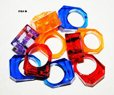 Color Acrylic Rings Parts For Birds Parrot Toy Mini macaw Lories Conure Quaker