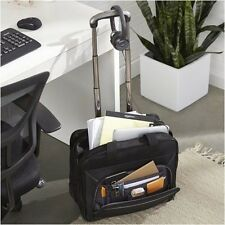 "Rolling Laptop Case for Women Bag Briefcase Black Wheeled Computer 17 "" Travel"