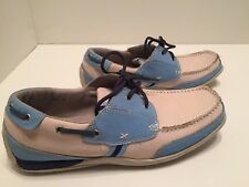 Steve Madden Mens Carolina Blue/  Cream  Boat Shoes Size 10