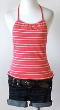 AMERICAN EAGLE OUTFITTERS Striped Scoop Neck Halter Knit Tank Top Shirt Blouse S