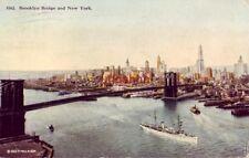 BROOKLYN BRIDGE OVER EAST RIVER, NEW YORK CITY, NY 1915