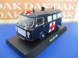 Die cast 1/43 Modellino Furgone Carabinieri Fiat 238 Ambulanza 1969