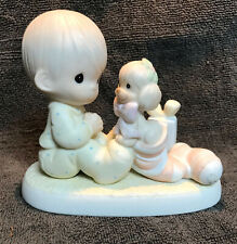 """Precious Moments """"THE GREATEST GIFT IS A FRIEND"""" Figurine Dated 1987 #109231"""