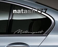 MOTORSPORT Performance Racing Sport Car Window Vinyl Decal sticker emblem SILVER