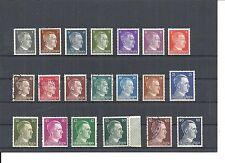 Deutsches Reich, 1941 Michelnrn: 781 - 798 **/*/o, gemischt, Katalogwert € 9,00