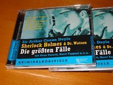 Hörbuch   Sir Arthur Conan Doyle  SHERLOCK HOLMES & Dr. WATSON  5 CD´s  @LOOK@