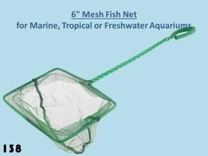 "6"" Aquarium Fish Net with Free Postage. Suitable for Vivariums and Fish Tank 138"