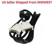 New Dell Male to Male 5ft 18 Pin M - M DVI - D Black Cable NEW 453030300660R