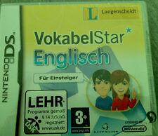 Nintendo DS Langenscheidt VokabelStar Englisch für Einsteiger Vokabeln lernen N