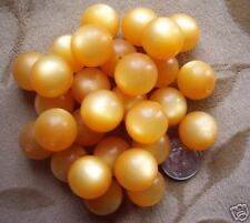 40 Lucite/acrylic/plastic beads, orange  MOONGLOW,16mm