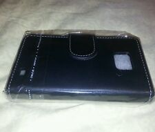 New Black Leather Wallet Skin Case Cover For Samsung Galaxy S2 2 II i9100