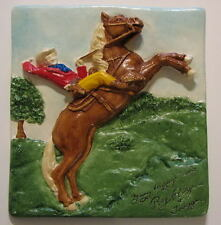 ROY ROGERS & TRIGGER 'MANY HAPPY TRAILS' PROTOTYPE Plaster Plaque RARE