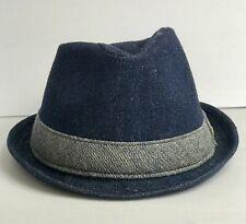 Yellow 108 Fedora Tribley Hat Blue Denim Band Size Large Hemp Organic Cotton $98