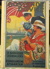 Belgium Oostende Dover 2 Services Journaliers 1920 J Lentrein - unposted