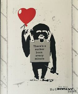 """""""true love fake art"""" not banksy serigraph signed limited edition 500 with COA."""