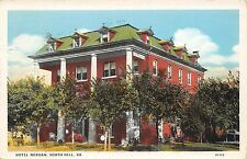 C62/ South Hill Virginia Va Postcard 1932 Hotel Nordan Building