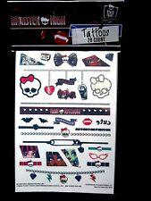 """MONSTER HIGH Tattoos 28 Count 1"""" - 4"""" Brand NEW!"""