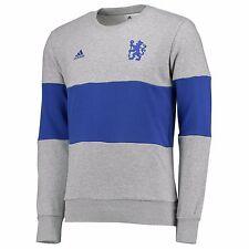 Adults Small Chelsea Crew Neck Sweatshirt - Grey/Blue H1057