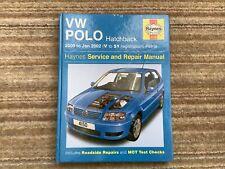 HAYNES MANUAL VW POLO HATCHBACK (6N2) 2000-02 (V-51 REG) PETROL INC 16v No4150