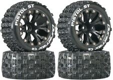 Duratrax Mounted Pistol ST Tires Wheels (4) 2WD Stampede Rustler Jam Front Rear