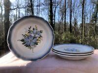 Vintage Mikasa Natures Best Country Club 8-Piece Stoneware Salad Plates (CA 512)