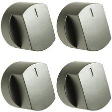 4x PLATA botón giratorio para Horno Interruptor para Stoves 444445107 444445108