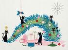 Mid Century Modern Christmas Cats