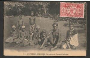 Neue Hebriden 1923 AK bildseitig frankiert