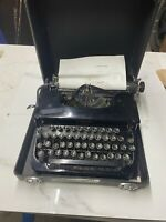Vintage RARE Smith Corona Sterling Typewriter Black W/Case  Works! ESTATE FIND