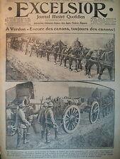 WW1 N°  2226 VERDUN CANONS TOURELLE BLINDéE FRONT RUSSE JOURNAL EXCELSIOR 1916