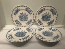 A Set of Four Mason's Fruit Basket Multi Colored Blue  Dinner Plates