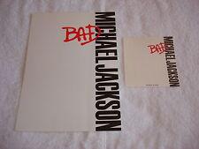 Michael Jackson Bad Stationery Original 87 Official Promo Paper Japan MEGA RARE
