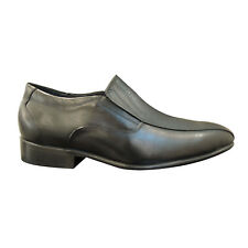 Men's black leather shoes Y-140