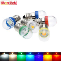 E10 Lamp LED Bulb 12V 12 Volt DC 7 Colors MES 1447 Screw for Torch Bike Bicycle