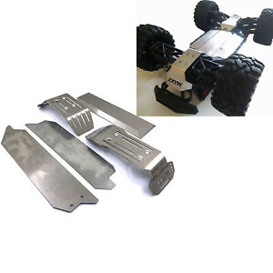Stainless Steel Chassis Armor Skid Plate Guard Upgrade Set For Traxxas MAXX 1/10