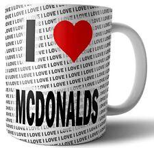 I Love McDonalds thé - Café - Tasse - Tasse - Anniversaire - Noël - Cadeau