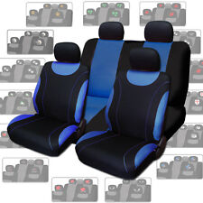 New Blue Flat Cloth Car Seat Covers with Designer Headrest Covers For VW