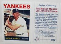 1995 HAMILTON COLLECTION MICKEY MANTLE YANKEES 1964 TOPPS PORCELAIN CARD