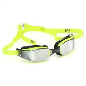 Michael Phelps XCEED Mirrored Lens Swim Goggles. Yellow/Black