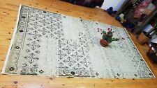 """Vintage 1950's Floral Cross Patterned Turkish Oushak Rug 5'4""""× 9'5"""""""