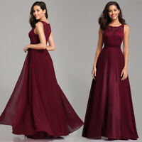 Ever-pretty US Long Lace Burgundy Evening Party Dresses Cocktail Ball Prom Gown