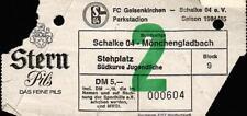 Ticket BL 84/85 FC Schalke 04 - Borussia Mönchengladbach, 02.02.1985