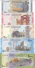 SYRIA 50 100 200 500 1000 LIRA 2009 2013 P-112 . 113 . 114 . 115 . 116 UNC SET